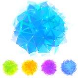 Manchas brillantes de los triángulos del vector fijadas Imagenes de archivo