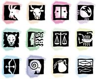 Manchas coloreadas con las muestras Fotografía de archivo libre de regalías