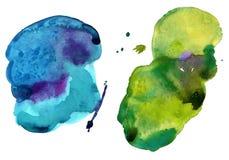 Manchas coloridas da aguarela Imagem de Stock