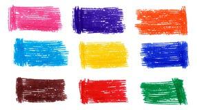 Manchas coloridas del marcador fijadas Foto de archivo