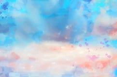 Manchas da aquarela do fundo Foto de Stock Royalty Free
