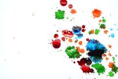 Manchas da cor da tinta imagens de stock
