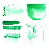 Manchas da pintura do vetor da escova da aquarela Ilustração Royalty Free