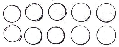 Manchas de óxido de la taza en negro Fotografía de archivo libre de regalías