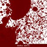 Manchas de óxido de sangre salpicadas Foto de archivo libre de regalías