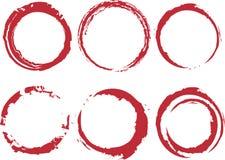 Manchas de óxido del círculo de Grunge Fotos de archivo