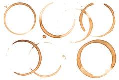 Manchas de óxido del café Foto de archivo libre de regalías
