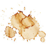 Manchas de óxido del café del vector Fotografía de archivo libre de regalías