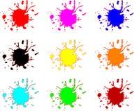 Manchas de óxido del chapoteo stock de ilustración
