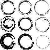 Manchas de óxido vectorizadas del café Imagen de archivo libre de regalías