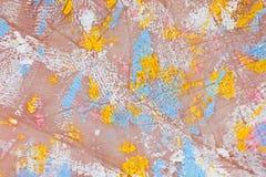 Manchas de la pintura en las manos gruesas, textura, fondo Imagen de archivo