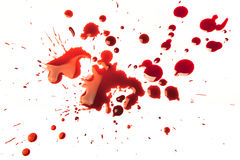Manchas de sangue Fotos de Stock Royalty Free