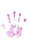 Manchas de sangue as mãos imagem de stock