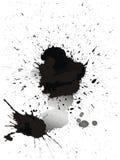 Manchas de tinta de la acuarela Fotografía de archivo libre de regalías