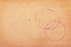 Manchas del vino en el papel marrón Fotografía de archivo