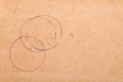 Manchas del vino en el papel marrón Foto de archivo libre de regalías