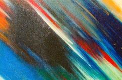 Manchas desvanecidas da aquarela na lona Fotos de Stock