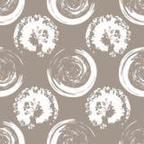 Manchas do branco no fundo do café branco Imagem de Stock