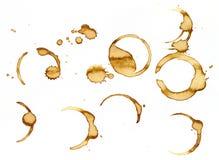 Manchas do café imagem de stock