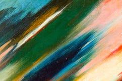 Manchas negligentes da pintura da aquarela na lona Foto de Stock Royalty Free
