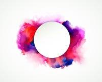 Manchas púrpuras, azules, de la lila, anaranjadas y rosadas de la acuarela Elemento de color brillante para el fondo artístico ab ilustración del vector