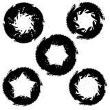 Manchas redondas da tinta, estrelas das formas Fotografia de Stock