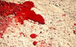La sangre salpica Imagen de archivo libre de regalías