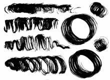 Manchas secas da escova Imagens de Stock