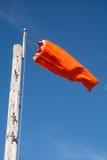 Manche à air orange Photos libres de droits