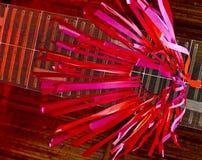 Manche à air rouge abstrait de cerf-volant Photographie stock