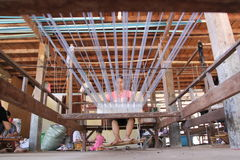 Manche de main en soie, Cambodge photo stock