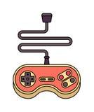 manche Gamepad retro Controlador do videogame velho ilustração stock