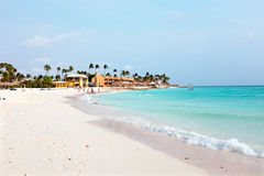 Manchebo beach on Aruba island in the Caribbean Royalty Free Stock Image