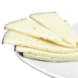 Manchego cheese. Some slices of manchego cheese from Spain Royalty Free Stock Photo