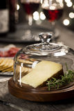 Manchego Cheese and Snacks at Holiday Party Royalty Free Stock Photo