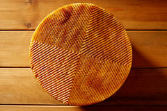 Manchego cheese from Spain in wooden table Stock Photography