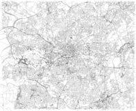 Manchester översikt, satellit- sikt, stad, England Gatasikt förenat kungarike stock illustrationer