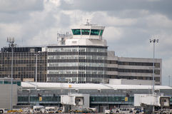Manchester Airport. A view of the control tower at Manchester Airport royalty free stock photo