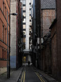 Manchester alley. Alley in downtown Manchester, UK Royalty Free Stock Images