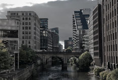 Manchester appartments by canal Stock Photos