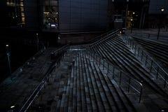 Manchester Bridgwater Pasillo, escaleras angulosas Foto de archivo