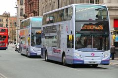 Manchester buses Royalty Free Stock Photo