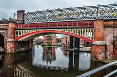 Manchester canal side scene Stock Image
