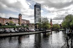Manchester canal buolding Stock Images