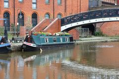 Manchester canal Royalty Free Stock Photo