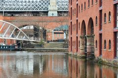 Manchester - Castlefield. Manchester - city in North West England (UK). Castlefield district, waterway canal area Stock Photo