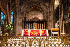 Manchester Cathedral altar B. ENGLAND, MANCHESTER - 15 NOV 2015: Manchester Cathedral altar B Stock Photography