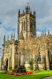 Manchester Cathedral. Historic Manchester Cathedral in autumn royalty free stock images