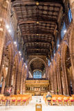 Manchester Cathedral nave. ENGLAND, MANCHESTER - 15 NOV 2015: Manchester Cathedral nave Stock Image