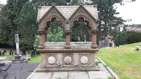 Manchester. Cemetery in Manchester Stock Image